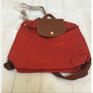 Longchamp Le Pliage Backpack in Burnt Orange